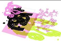 Installations © / Volume et animation s'associent pour créer des scénographies, des objets-sculptures inspirés la série TEK D'ADN : animer ces toiles pour les projeter sur des murs d'images en gardant la logique des deux quadrilatères, séparés un interstice, un pli. Des éléments passent de l'un à l'autre et subissent des métamorphoses (déformation, implosion, démultiplication, disparition inspirés de rythmes, de fréquences, calqués sur le visible (ressacs des vagues) et l'invisible (collisions d'électrons).