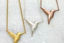 Hummingbirds / Hummingbirds symbolise joy, playfulness, and lightness of being, which we could all do with every now and then! Add a little joy to your outfit with this chic and contemporary jewellery collection featuring stylised birds in textured or polished silver and 24ct gold vermeil. All designed and handmade by Jana Reinhardt Jewellery http://www.janareinhardt.com/collections/hummingbird-jewellery