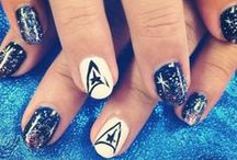 Nerdy Nail Art / French manicures are great, but how about a star trek themed nail art?
