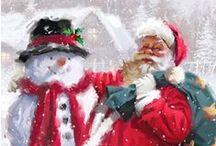 Santa,snowman
