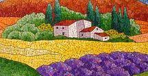 Mosaik Landschaft