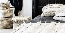 H A N D I R A S / Our handiras are handwoven by the Berber women. Today handiras have become an interior design statement and can be used as carpet, wall hanging, throw blanket on sofa or bed in any room and any interior style.  www.shop.zocohome.com