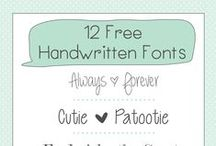 Fonts I Love / A collection of great and (mostly) free fonts from around the web