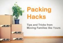 Packing Hacks - Office, Family Room & Beyond / Tips and tricks to packing your home office, family room and miscellaneous parts of your home. Packing for a move. #PackingTips #MovingTips