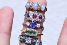 ANTIQUE RINGS / A beautiful selection of English and European antique rings from the 18th Century to 1960s.