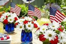 Red White & Blue Party / Food & decoration Ideas for your patriotic parties.