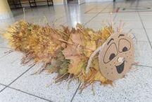 podzim - tvoření z podzimního listí