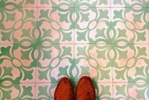 Chic Floors and Tiles / Pretty tiles and design make you happy whether you're looking up or down