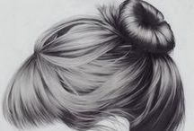 Draw hair tips