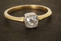 Diamond Rings by Butter Lane Antiques / Unusual vintage and antique diamonds set in contemporary ring mounts designed by Butter Lane Antiques. Handmade in England using recycled gold and platinum.