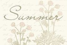 Summer Season Weddings / Traditional colors and color combinations for Summer weddings.