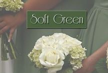 Soft Greens / Green Colors Schemes for weddings by Designs by Mayumi.