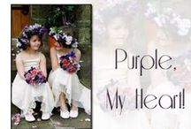 Purple, My Heart / Floral designs in shades of purple.