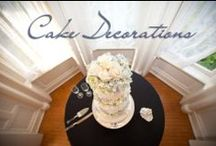 Cake Decorations by Mayumi / Floral decor for wedding cakes.