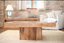 Living room / Beautiful wooden furniture in living room