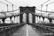 Brooklyn Bridge in Black and White / Black and white fine art images of the Brooklyn Bridge available from BrooklynPrints.com.