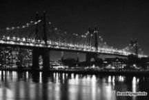 Queensboro Bridge (Ed Koch Bridge), New York, NY / Fine art black and white photos of the Queensboro Bridge from BrooklynPrints.com.