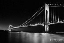 Verrazano Bridge, New York, NY / Fine art images in black and white of the Verrazano Bridge from BrooklynPrints.com.