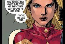 "Captain Marvel / Carol Danvers  (formerly Ms. Marvel).                                       ""It's Captain, you little maggot"" / by malyree marvel hancock"