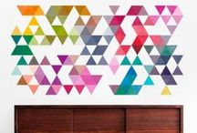 MID CENTURY STYLE / Find here the most creative and amazing Geometric Mid Century Decals
