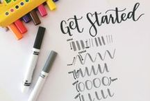 Hand Lettering / ideas and tutorials for hand lettering