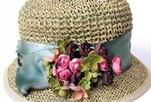 Bonnets, Boxes And Baubles / A display of vintage hats, hatboxes and hatpins.  / by sandra whalen