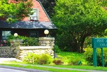 Around Campus / PMC's campus is nestled on a beautiful 40-acre piece of land in Chestnut Hill, MA.  / by Pine Manor College