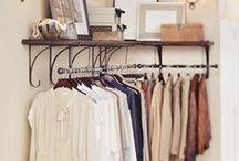 Storage ideas / Storage solutions for small places, smart storage ideas for small flats, well designed & hidden storage for modern look interiors.  Walk in wardrobe, wardrobe and shoe storage inspiration.
