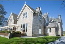Muckrach Country House Hotel / 4 star luxury in the Scottish Highlands.  11 bedroom Victorian Shooting Lodge close to Aviemore and the Cairngorms.  Coffee Shop & Restaurant open every day to non residents