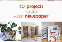 DIY Newspaper Crafts / Not sure what to do with your old newspapers and magazines? Instead of tossing them, upcycle them into fun and creative DIY decor! Remember to re-order your favorite newspapers and magazines with Mitchell's NY!