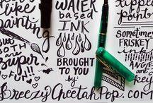 odręczne litery   doodle fonts