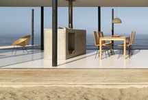 Beach house and interior