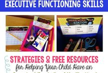 Executive Functioning Skills for Home / Resources, Tips, Strategies to help Your Child's Executive Functioning Skills at home.