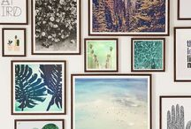 Decoration ideas / Inspiration on how to decorate with pictures, prints, frames, vases, candles & more.