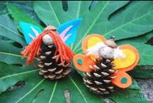 Pine Cones / Crafts and activities using pine cones - there's even a pin on how to treat pine cones before using for crafts.