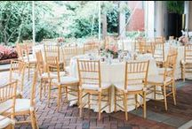Wedding Reception L+K / Decatur House Preferred Vendors Sugarplum Tent Company and Design Cuisine along with event planner Floral Bloom brought this beautiful afternoon wedding reception together. Abby Grace Photography