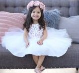 Adorable Flower Girl Dresses and Accessories / Everything you need to make your flower girls feel like a princess. From flower girl dresses to flower baskets, pretty girl hairstyles and more. Includes adorable handmade girl dresses for weddings by Belle Threads.
