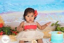 Princess: Moana Birthday Party Ideas / Luau party ideas for kids including Moana birthday party food ideas and decorations. Includes original handmade Moana look-alike costumes and dresses from Belle Threads.