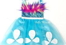 TROLLS Birthday Party for Girls / Trolls birthday party ideas: Princess Poppy inspired halloween costumes, trolls party tutus, colorful dresses, festive party food, Trolls party decor, Trolls party supplies. #trollsparty #trollsbirthdayparty #trollsdecor #trollspartyideas