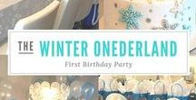 Winter Wonderland Birthday Ideas / Unique Party Ideas for Celebrating your little one's Winter ONEderland birthday party / Winter Wonderland Parties and Yummy Food Ideas for Winter Celebrations