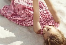 * gingham, vichy, ruitje * / I love little tots in small checked gingham. a true classic........... / by Anjo Quist