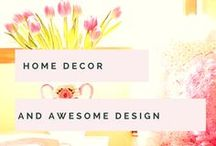Decor & Design | Home Decorating Ideas / Gorgeous ideas, lovely home decor and enviable designs for across your home. Some I have in my own house so shared for you to implement yourself. Nothing ever too costly, just sensible, practical and beautiful home design, storage and accessories