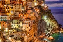 From Florence to ...Cinque Terre /  The Cinque Terre are National Park and UNESCO protected territory since 1997. Riomaggiore, Corniglia, Manarola, Vernazza, Monterosso are the five villages that form the Cinque Terre, suspended between sea and land on sheer cliffs upon the beautiful sea. / by Hotel Pendini Florence