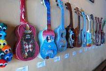 Fun Ukes and Accessories / Ukes of all colors, shapes, and sizes. Fun uke accessories too!