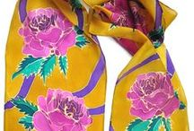 Painted Silk Scarves / Some examples of hand painted silk scarves