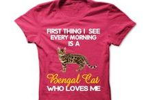 Bengal Cat / Limited edition tee for bengal cat owners. Tshirt just for Bengal cat lovers #catshirts #bengalshirts