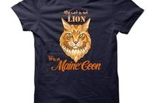 Maine Coon Cat / Tshirt just for Maine Coon cats lovers #catshirts #mainecoonshirts Limited edition tee for #MaineCoon cat owners.