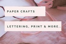 Paper Crafts / Bullet Journal, Scrap & Smash Books - Lovely ideas and inspiration for creativity in all paper-related forms!