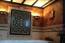 Use our custom technology for interior spaces / Spa bathtub and tile bathroom plus many more uses  Saratoga Stonescaping designs to customize your style creatively >> http://SaratogaStonescaping.com