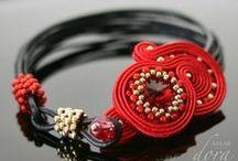 Handicraft by Dora Maar / www.doramaar.pl #soutache #beadwork #sutasz #bizuteria #kobieta #dodatki #jewellery #handmade #rekodzielo